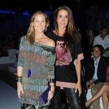Fiona Ferrer y Elsa Anka en el desfile de Custo Barcelona en la 080 Barcelona Fashion