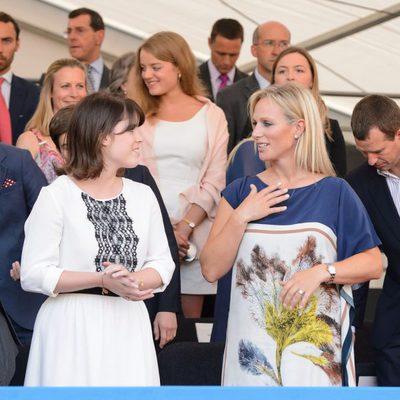 La Princesa Eugenia de York y Zara Phillips en el concierto del 60 aniversario de la coronación de Isabel II de Inglaterra