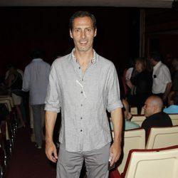 Manuel Bandera en la presentación de la obra de teatro 'Más sofocos' en Madrid