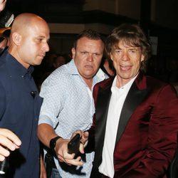 Mick Jagger en la celebración de su 70 cumpleaños