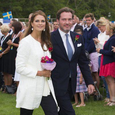 La Princesa Magdalena de Suecia y Chris O'Neill el día del 36 cumpleaños de Victoria de Suecia