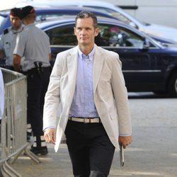 Iñaki Urdangarín llegando a la Ciudad de la Justicia de Barcelona