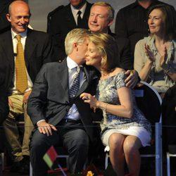 Felipe y Matilde de Bélgica en el National Ball de Bruselas