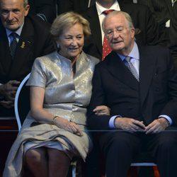 Los reyes Alberto II y Paola de Bélgica en el National Ball de Bruselas