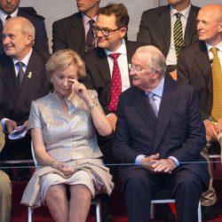 La reina Paola de Bélgica se emociona en su último acto público