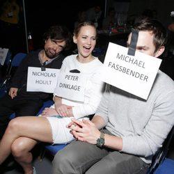 Peter Dinklage, Jennifer Lawrence y Nicholas Hoult en la Comic-Con 2013