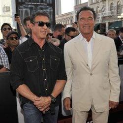 Sylvester Stallone y Arnold Schwarzenegger en la Comic-Con 2013