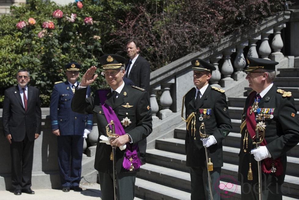 El Rey Felipe de Bélgica visita la Tumba del Soldado Desconocido