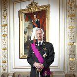 Primer retrato oficial del Rey Felipe de Bélgica