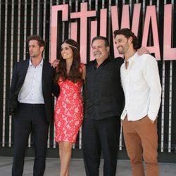 Los actores durante la premier de la telenovela 'La Tempestad' en Los Ángeles