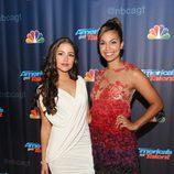 Olivia Culpo y Miss EE.UU. durante el estreno de 'America's Got Talent' en Nueva York