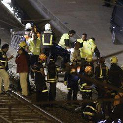 Investigan la causa del accidente de un tren en Santiago de Compostela