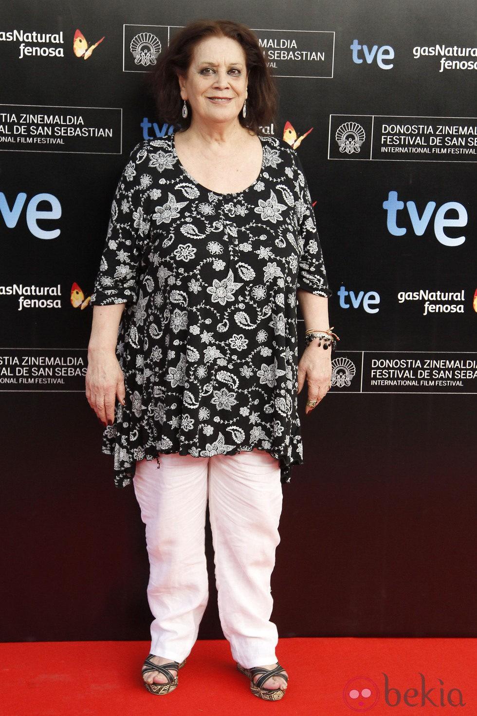Terele Pávez en la presentación del Festival de Cine de San Sebastián 2013