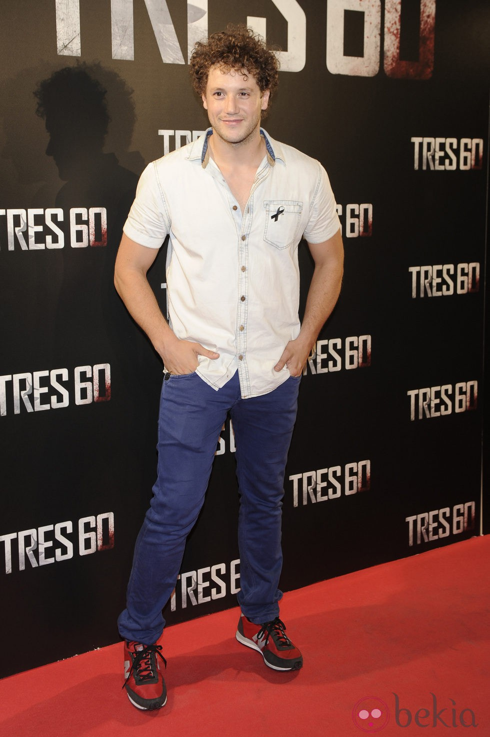 Daniel Diges en el estreno de 'Tres 60' en Madrid