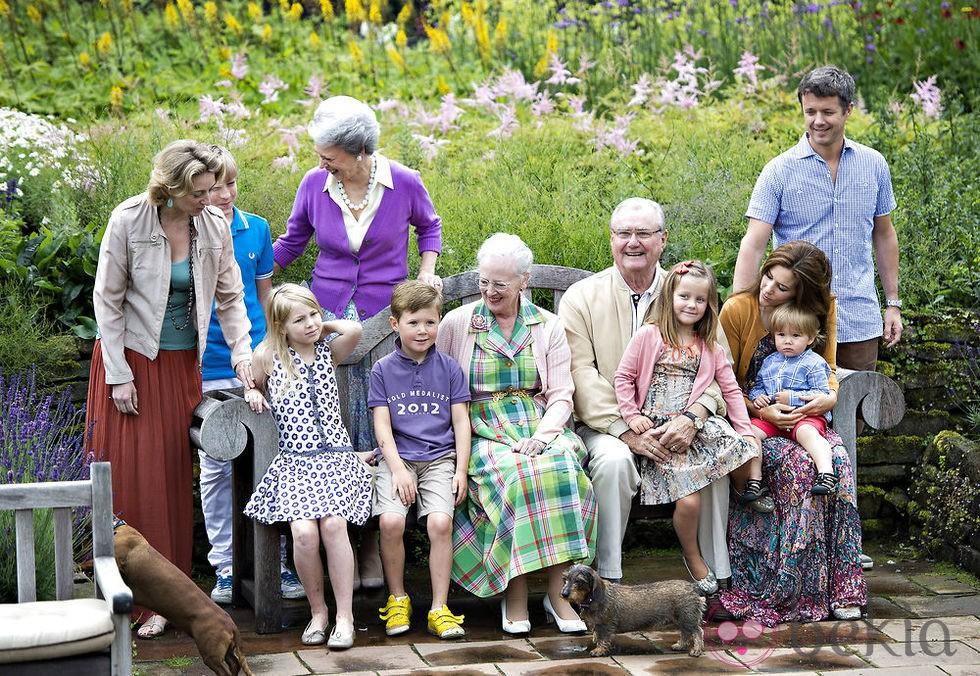 La Familia Real Danesa se reúne para sus vacaciones en Gråsten Slot