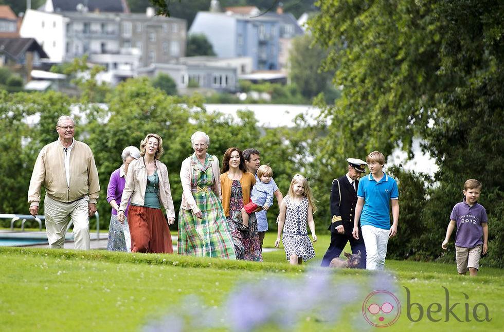 La Familia Real Danesa durante sus vacaciones en Gråsten Slot