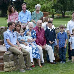 La Familia Real Danesa posa en sus vacaciones en Gråsten Slot