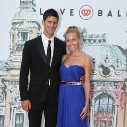 Novak Djokovic y Jelena Ristic en 'El Baile del Amor' en Mónaco