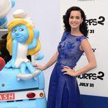 Katy Perry en la premiere de 'Los Pitufos 2' en Los Angeles