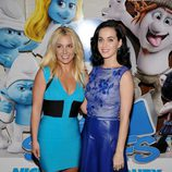 Britney Spears y Katy Perry en la premiere de 'Los Pitufos 2' en Los Angeles