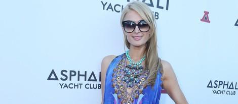 Paris Hilton en la fiesta de inauguración del Asphalt Yacht Club