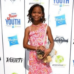 Quvenzhané Wallis en el Power of Youth 2013
