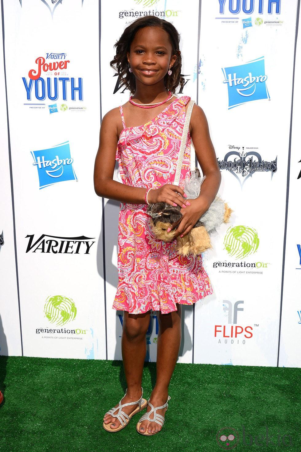 Quvenzhané Wallis en el Power of Youth 2013