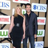 Toni Collette y Dylan McDermott en la fiesta veraniega de CBS, Showtime y The CW 2013