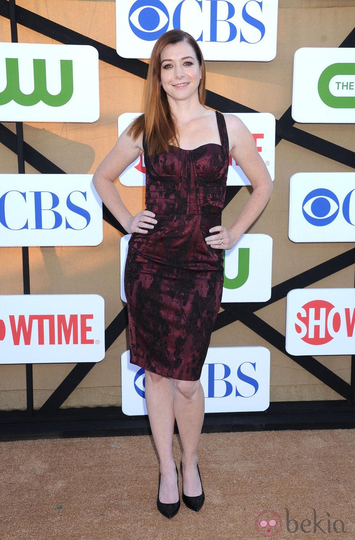 Alyson Hannigan en la fiesta veraniega de CBS, Showtime y The CW 2013