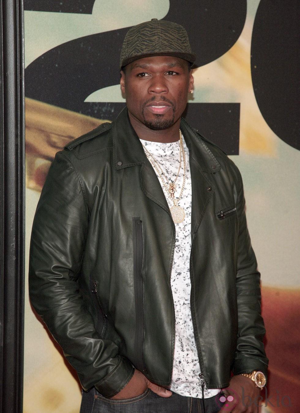 50 Cent en la premiere de '2 Guns' en Nueva York