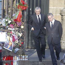 Alberto Ruiz Gallardón en el funeral por las víctimas del tren de Santiago