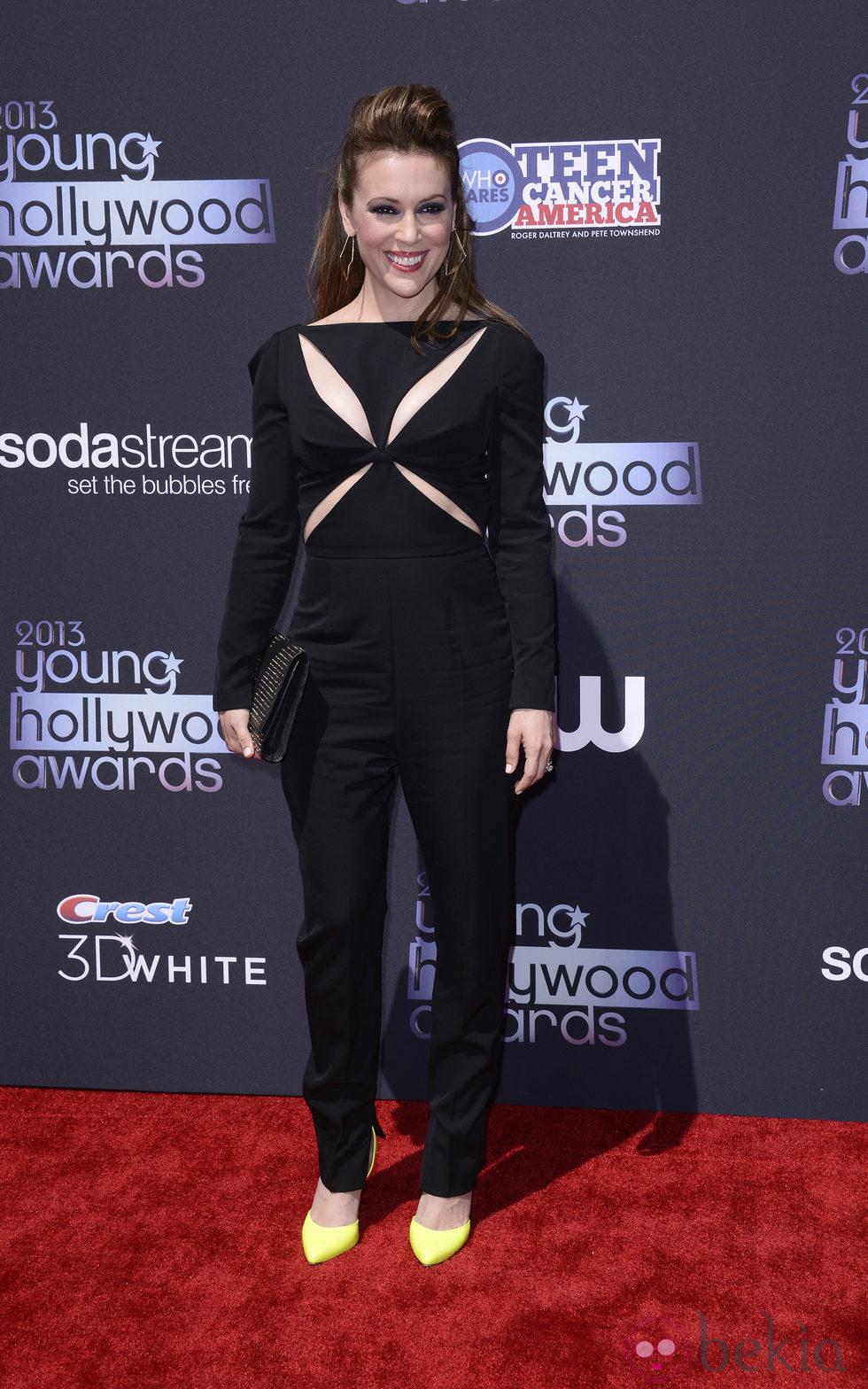 Alyssa Milano en los Premios Young Hollywood 2013