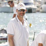 El Príncipe Felipe en una regata de la Copa del Rey de Vela 2013