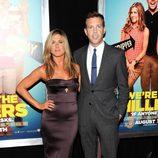 Jennifer Aniston y Jason Sudeikis en el estreno de 'Somos los Miller' en Nueva York