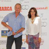 Bertín Osborne y Fabiola Martínez en el Global Gift Celebrity Golf Tournament de Marbella