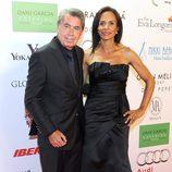 Manolo Santana y Claudia Rodríguez en la Global Gift Gala 2013 de Marbella