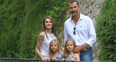 Los Príncipes Felipe y Letizia y las Infantas Leonor y Sofía en la Granja de Esporles de Mallorca