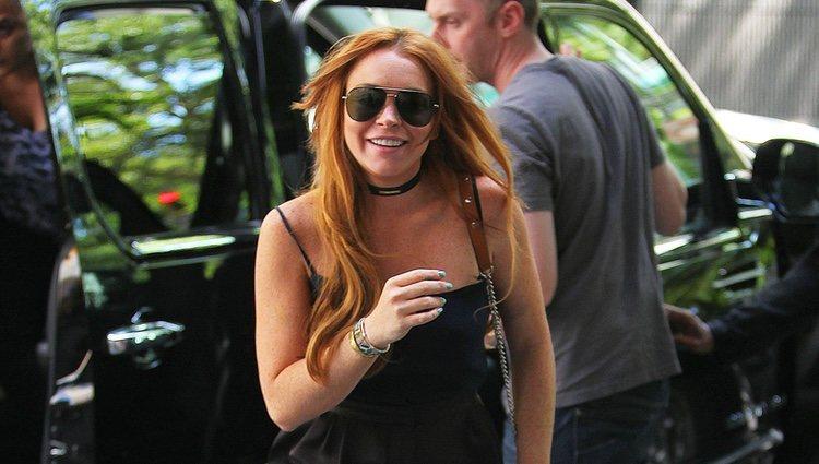 Lindsay Lohan después de salir de la clínica de rehabilitación