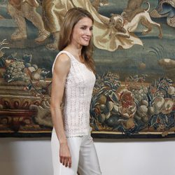 La Princesa Letizia en la cena con las autoridades de Baleares