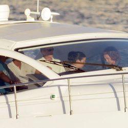 La Reina Sofía y el Príncipe Felipe en la lancha Somni