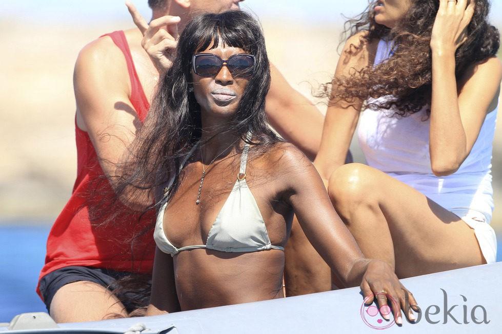 Naomi Campbell de vacaciones en Formentera