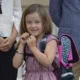 Isabel de Dinamarca en su primer día de colegio