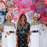 Natalia Álvarez en la fiesta Flower Power de Ibiza 2013