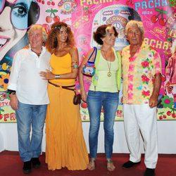 Ángel Nieto en la fiesta Flower Power de Ibiza 2013