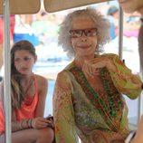 La Duquesa de Alba con su nieta Amina en las playas de Ibiza