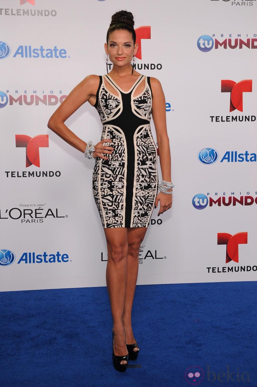 Natalia Jiménez en la entrega de los Premios Tu Mundo 2013