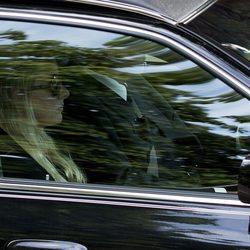 La Princesa Mabel en el funeral de su marido el Príncipe Friso de Holanda