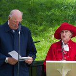 Los Reyes Harald y Sonia en el 40 cumpleaños de Mette-Marit de Noruega