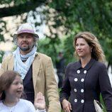 Marta Luisa de Noruega y Ari Behn en el 40 cumpleaños de Mette-Marit de Noruega