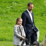 Haakon de Noruega y la Princesa Ingrid en el 40 cumpleaños de Mette-Marit de Noruega